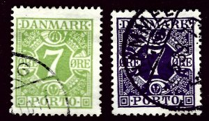 Denmark SC J13-J14 Used F-VF SCV$40.50...A World of Stamps!