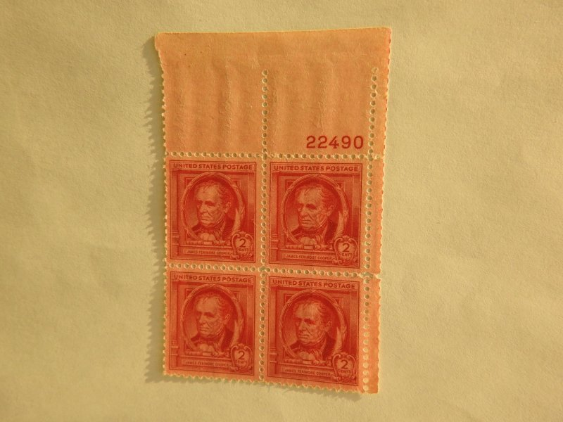 U. S. #860  MINT block  OG   NH