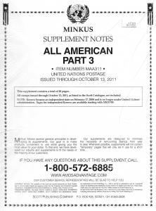 Minkus All American Part 3 MAA311 Supplement 2011
