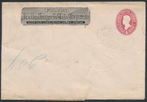#U325 WELLS FARGO & Co. COVER WITH RED SEPT 7 SAN FRANCISCO CANCEL BR8819