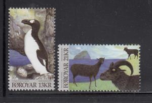Faroe Islands MNH 2012 Set of 2 Animals: penguin, goats