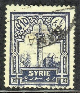 SYRIA  SC# 173 **USED** 1925  10c  MOSQUE AT HAMA   SEE SCAN