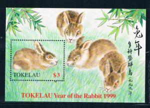 Tokelau 264 MNH SS Year of the rabbit 1999 (T0083)+