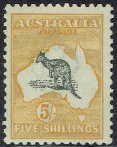 AUSTRALIA 1915 KANGAROO 5/- 3RD WMK