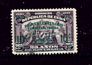 Cuba 355 Used 1937 surcharge and overprint      (P68)