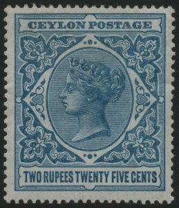 CEYLON-1899-1900 2r25 Dull Blue Sg 264 MOUNTED MINT V40467