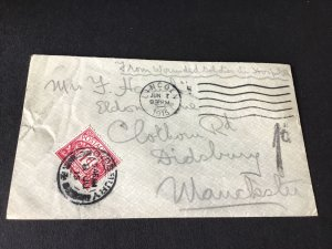 Lincoln 1915 to manchester postage due stamps cover Ref R28798