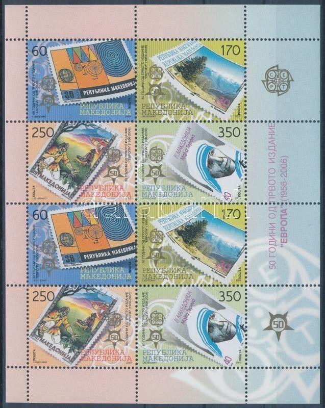 Makedonien stamp Europa CEPT stamp mini sheet 2005 MNH Mi 370-373 WS189153