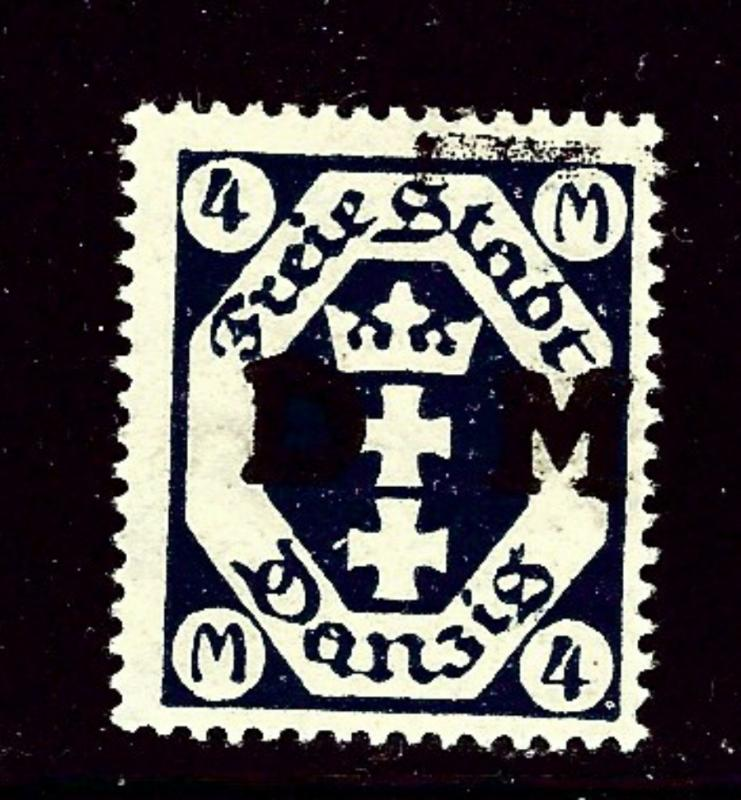 Danzig O23 MH 1922 overprint