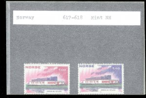 NORWAY Sc#617-618 MINT NEVER HINGED Complete Set