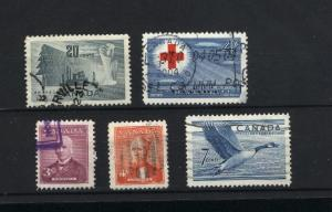 C  #316-320  used  1952 PD