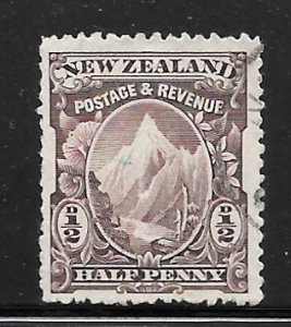 New Zealand 70: 1/2d Mount Cook, used, F-VF