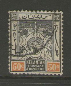 Malaya S. Setts. Kelantan 1911-29 SG 22 Sc 25 FU