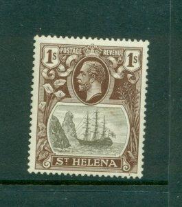 St. Helena - Sc# 87. 1922 GeoV 1Sh Mint. $7.75.