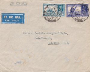 India 6a KGVI Mail Steamer and 3a6p KGVI Dak Camel 1939 Calcutta G.P.O., Air-...