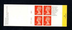 4x 1st NVI BARCODE BOOKLET TYPE 9 PLATE W22 W30 W31 ROUGH CARD MCC £100