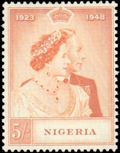 Nigera #73-74, Complete Set(2), 1948, Royality, Hinged