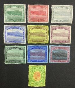 MOMEN: DOMINICA SG #47-54 1908-20 MINT OG H £120 LOT #62122