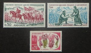 French  Andorra 155-57. 1963 History, Dance