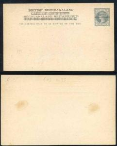 British Bechuanaland Overprint on Cape Of Good Hope QV 1 1/2d Grey Postcard Mint
