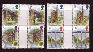 Great Britain Sc 1280-3 1989 Archaeology gutter pairs NH