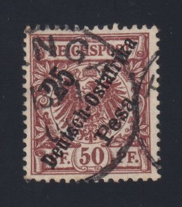 German East Africa Sc #10 (1896) 50pf Imperial Eagle TANGA CDS Used Signed BPP