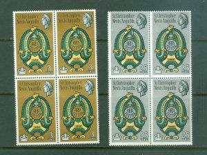 St Kitts, Nevis,Anguilla #175-6 Block(4) MNH CV$4.40