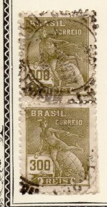 Brazil 1922 Early Issue Fine Used 300r. NW-12028