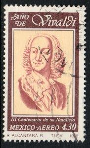 MEXICO C589, Antonio Vivaldi Year, composer. USED. VF. (828)
