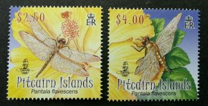 Pitcairn Islands Wondering Glider Dragonfly 2009 Insect Flower Flora (stamp) MNH