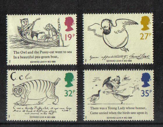 Great Britain 1988 MNH  Edward Lear