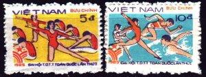 Vietnam. 1985. 1606-7. Sport, gymnastics. MVLH.