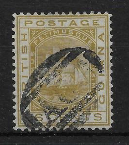 BRITISH GUIANA SG134 1876 96c OLIVE-BISTRE USED