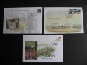 CANADA 3 different 2005 Canada Post special event covers, check them out!!