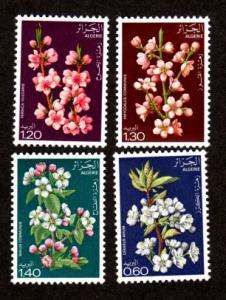 Algeria 607-610 Mint NH MNH Flowers!