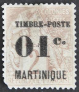 DYNAMITE Stamps: Martinique Scott #21 – UNUSED