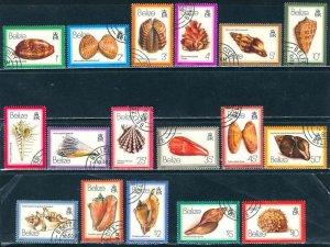 Belize; 1980: Sc. # 471-487: O/Used CTO, Cpl. 17 stamps Set