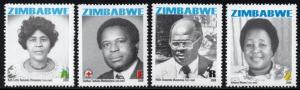 Zimbabwe - 2008 Heroes Commemorations Set MNH** SG 1262-1265