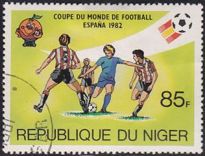 Niger 559 USED 1981 Spain '82 World Cup Soccer