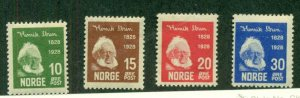 NORWAY #132-5, Mint Hinged, Scott $16.75