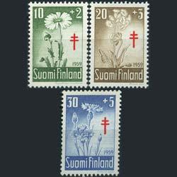 FINLAND 1959 - Scott# B154-6 Flowers Set of 3 NH