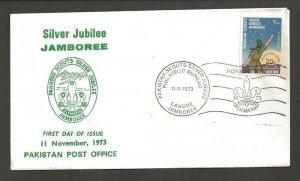 1973 Scouts Pakistan 50th anniversary Jamboree stars FDC