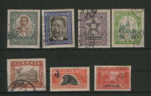 LIBERIA-7 USED STAMPS