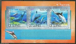 GUINEA  2014 DOLPHINS  SHEET MINT NH