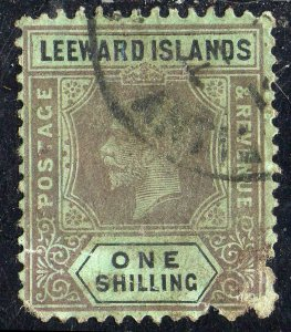 Leeward Islands Sc #54 (Die I) Used