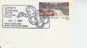 1990 Love 1st Bite Rattlesnake Roundup Moxen PA Pictorial PC