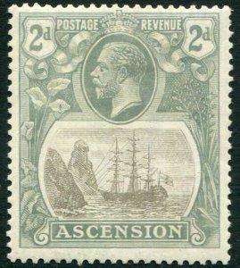 ASCENSION-1924-33 2d Grey-Black & Grey Sg 13 light gum toning MOUNTED MINT V3378