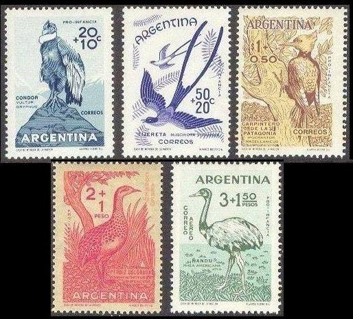 1960 Argentina 715-719 Child welfare, birds 6.50 €