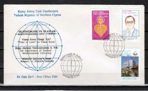 Turkish Rep. of Cyprus, Scott cat. 309-311. World Food Day. First day cover. ^