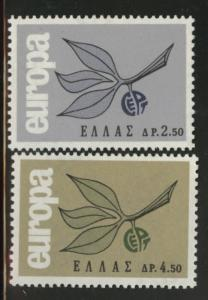 GREECE Scott 833-834 MNH** Europa 1965  stamp set